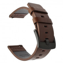 Leather bracelet 20mm brown / black