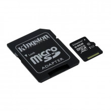 Kingston microSDXC 64GB + adaptér