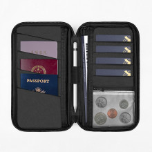 WiWU Bag Travel Wallet Mate passport and storage pouch Black