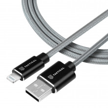 Tactical Fast Rope Aramid Cable USB-A/Lightning MFI 1m Grey