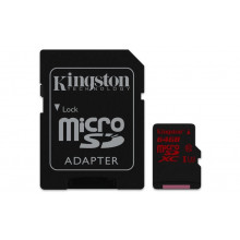 Kingston microSDXC 64GB UHS-I U3 4K2K + adaptér