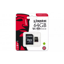 Kingston microSDHC 64GB Canvas Select UHS-I + adaptér
