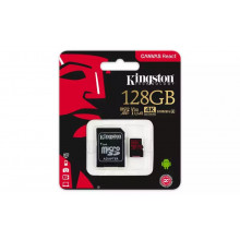 Kingston microSDXC 128GB Canvas React UHS-I U3 + adaptér