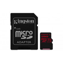 Kingston microSDXC 128GB Canvas React UHS-I U3 + adapter