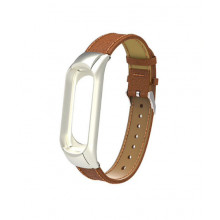 Luxurious leather bracelet for Mi Band 3
