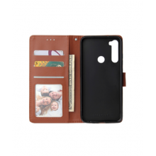 Flip case with pockets for Redmi 8A - brown