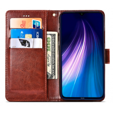 Flip case with pockets Redmi Note 8T brown