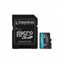 Kingston micro SDXC 64GB Canvas Go Plus 170R A2 U3 V30 + Adapter