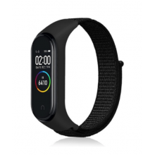 Nylon strap for Mi Band 3/4/5 - black