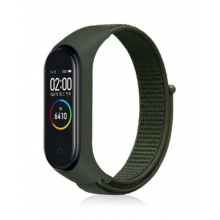 Nylon strap for Mi Band 3/4/5 - army green