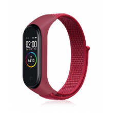 Nylon strap for Mi Band 3/4/5 - red