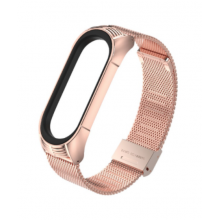 Steel bracelet for Mi Band 4/5 - rose gold