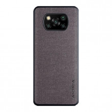 Textile case for Poco X3 NFC dark gray