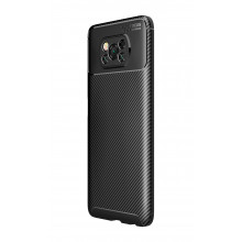 Carbon silicone case for Poco X3 NFC black